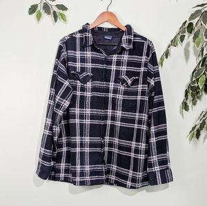 Highland Outfitters Thick Fleece Plaid Button Up